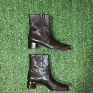 Salvatore Ferragamo Gancini Leather ankle boots